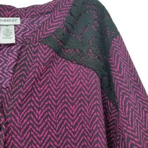 Catherines Tops - *2 for $20* Catherines Chevron Lace Top (34W/36W)